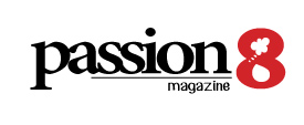 Passion8 Magazine logo.