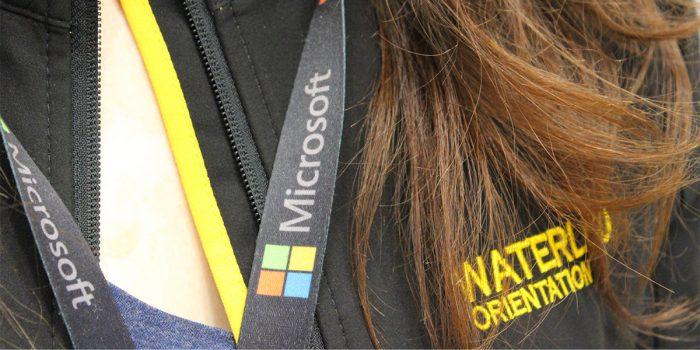 Microsoft Lanyard and Waterloo Orientation logo