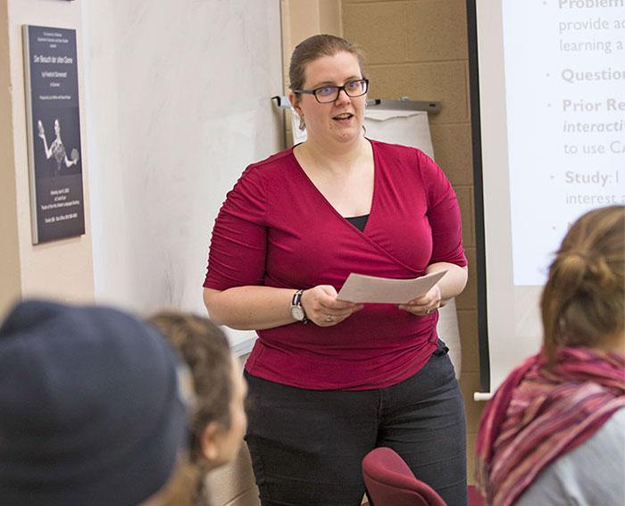 Sara Marsh teaching